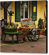 Gast Haus Display In Rothenburg Germany Canvas Print by Greg Matchick