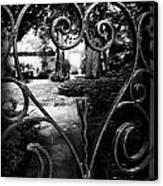 Gated Heart Canvas Print by Kelly Hazel