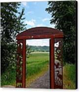 Gateway To The Trail Canvas Print by Lizbeth Bostrom