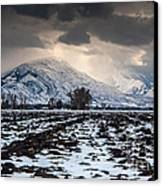 Gathering Winter Storm - Utah Valley Canvas Print