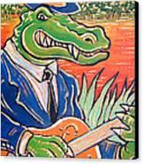 Gator Boogie Canvas Print by Robert Ponzio