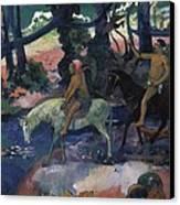 Gauguin, Paul 1848-1903. Ford Running Canvas Print