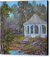 Gazebo And A Dream Canvas Print by Michael Mrozik