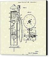 Gears 1935 Patent Art Canvas Print
