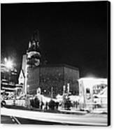 Gedachtniskirche Christmas Market On Kudamm Berlin Germany Canvas Print