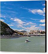 Gellert Hill And Danuber River In Budapest Canvas Print by Michal Bednarek