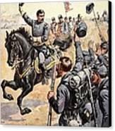 General Mcclellan At The Battle Canvas Print by Henry Alexander Ogden