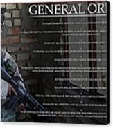 General Orders Canvas Print