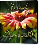 General Party Invitation - Blanket Flower Wildflower Canvas Print by Mother Nature