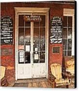 Genoa Saloon Oldest Saloon In Nevada Canvas Print
