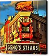 Geno's Canvas Print