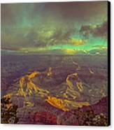 Gentle Sunrise Over The Canyon Canvas Print by Lisa  Spencer