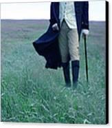 Gentleman Walking In The Country Canvas Print by Jill Battaglia