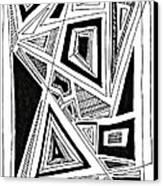 Geometric Doodle 2 Canvas Print by Sarah Loft