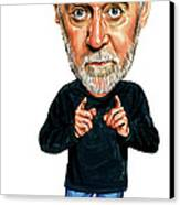George Carlin Canvas Print by Art