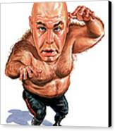 George The Animal Steele Canvas Print by Art