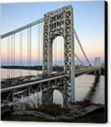 George Washington Bridge Sunset Canvas Print by Susan Candelario