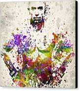 Georges St-pierre Canvas Print by Aged Pixel