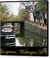 Georgetown Canal Poster Canvas Print