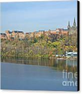 Georgetown University Neighborhood Canvas Print by Olivier Le Queinec