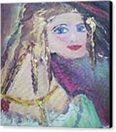 Georgiana And The Ring Canvas Print by Judith Desrosiers
