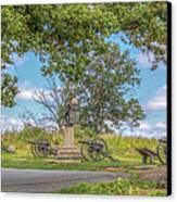 Gettysburg Battlefield 4th New York  Canvas Print by Randy Steele