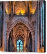 Ghost In The Cathedral Canvas Print by Adrian Evans