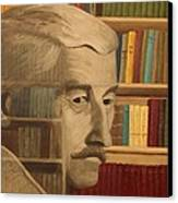 Ghost In The Library  William Faulkner Canvas Print by Patrick Kelly
