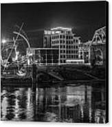 Ghost Of East Bank Reflecting In Water Canvas Print