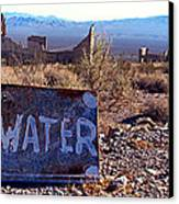 Ghost Town - No Water Canvas Print by Maria Arango Diener