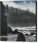 Giants In The Fog Canvas Print by Adam Jewell