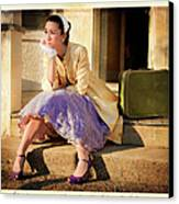 Gina On The Day Al Left Canvas Print