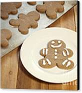 Gingerbread Cookies Canvas Print by Juli Scalzi