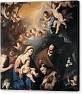 Giordano Luca, Holy Family Venerated Canvas Print by Everett