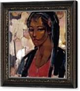 Girl Canvas Print by     Danail Tsonev