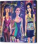 Girlfriends Canvas Print by Linda Vaughon