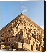 Giza Pyramid Detail Canvas Print by Jane Rix