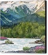 Glacier Creek Summer Evening Canvas Print