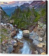 Glaciers Wild Canvas Print by Darren  White
