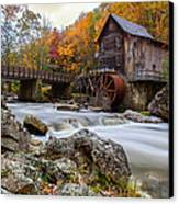 Glade Creek Grist Mill-babcock State Park West Virginia Canvas Print by Dick Wood