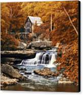 Glade Creek Mill Selective Focus Canvas Print