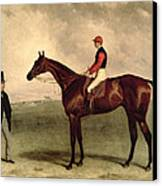 Gladiateur With Harry Grimshaw Up And His Owner Count Frederic De Lagrange Canvas Print by Harry Hall
