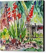 Gladiloli-3 Canvas Print by Vladimir Kezerashvili