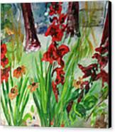 Gladioli-2 Canvas Print by Vladimir Kezerashvili