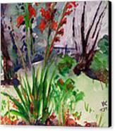 Gladioli-4 Canvas Print by Vladimir Kezerashvili