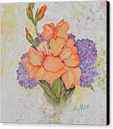 Gladioli And Hydrangea Canvas Print