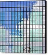 Glass Facade Houston Tx Canvas Print by Christine Till