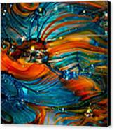 Glass Macro Abstract Rto Canvas Print by David Patterson