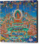 Glorious Sukhavati Realm Of Buddha Amitabha Canvas Print by Art School
