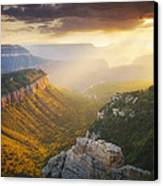Glow Of The Gods Canvas Print by Peter Coskun